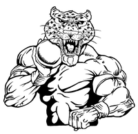 Track and Field Leopards Mascot Decal / Sticker 3