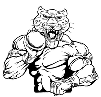 Track and Field Cougars / Panthers Mascot Decal / Sticker 3