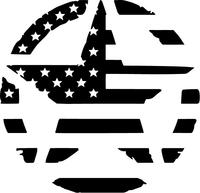 American Flag Star Decal / Sticker 25