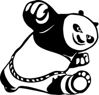 Kung Fu Panda Decal / Sticker 01