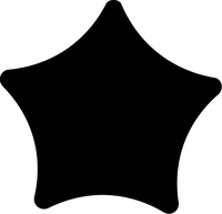 Rounded Star Decal / Sticker 28