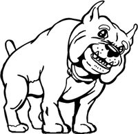 Cute Bulldog Mascot Decal / Sticker