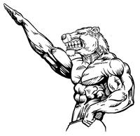 Weight Training Bear Mascot Decal / Sticker 12