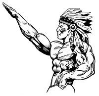 Weightlifting Braves / Indians / Chiefs Mascot Decal / Sticker wt2