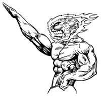 Weightlifting Comets Mascot Decal / Sticker 2