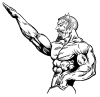 Weightlifting Devils Mascot Decal / Sticker 2