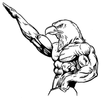 Weightlifting Eagles Mascot Decal / Sticker 2