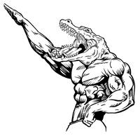 Weightlifting Gators Mascot Decal / Sticker 2