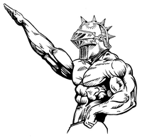 Weightlifting Knights Mascot Decal / Sticker 2