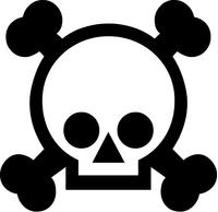Skull and Cross Bones Decal / Sticker 06