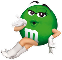 Green M&M Decal / Sticker 21