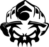 Firefighter Skull Decal / Sticker 03