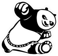 Kung Fu Panda Decal / Sticker 02