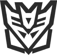 Transformers Decepticon 10 Decal / Sticker