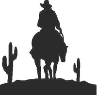 Cowboy Decal / Sticker 06