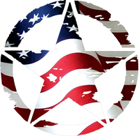 Weathered American Flag Army Star Decal / Sticker 03