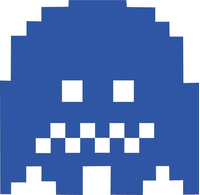 Pac-Man Blue Ghost Decal / Sticker 10