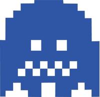 Pac-Man Blue Ghost Decal / Sticker 10