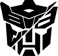 Split Autobot Dinobot Transformers Decal / Sticker 02
