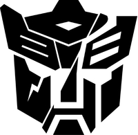 Split Autobot Dinobot Transformers Decal / Sticker 03