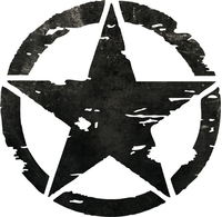 Distressed Army Star Decal / Sticker 05