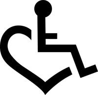 Wheelchair Heart Love Decal / Sticker 01