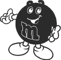M&M Decal / Sticker 06