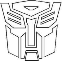 Transformers Autobot Outline Decal / Sticker