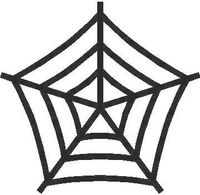 Spiderweb Decal / Sticker 03