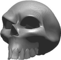 3D Carbon Fiber Skull 03 Decal / Sticker