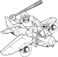 Knights Baseball Mascot Decal / Sticker on Plane