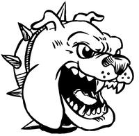 Bulldog Mascot Decal / Sticker 7