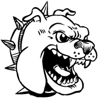 Bulldog Mascot Decal / Sticker 7
