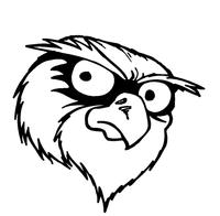 Owls Mascot Decal / Sticker 7