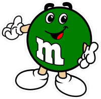 CUSTOM M&M DECALS and M&M STICKERS