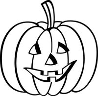 Jack-O-Lantern Decal / Sticker 01