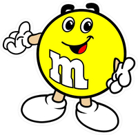 Yellow M&M Decal / Sticker 10