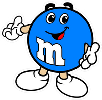 Blue M&M Decal / Sticker 11