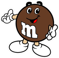 Brown M&M Decal / Sticker 12