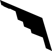Stealth Bomber Decal / Sticker 01