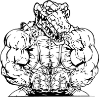 Weightlifting Gators Mascot Decal / Sticker