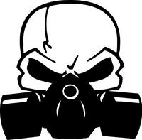 Gas Mask Skull Decal / Sticker 01