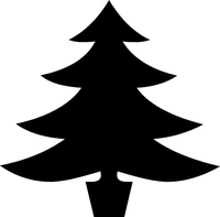 Christmas Tree Decal / Sticker 02