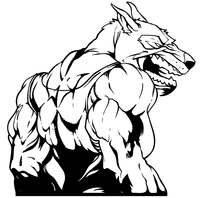 Wolves Wrestling Mascot Decal / Sticker