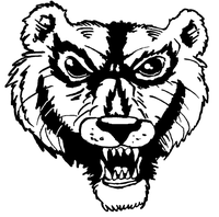 Wolverines / Badgers Mascot Decal / Sticker 1