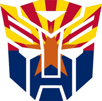 Autobot Arizona Flag Decal / Sticker 06