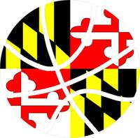 Maryland Flag Basketball Decal / Sticker 01