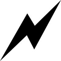 Lightning Bolt Decal / Sticker 06