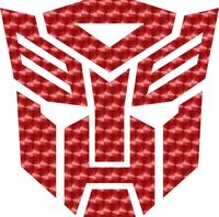 Red Engine Turn Autobot 06 Decal / Sticker