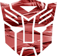 Red Shattered Chrome Autobot 06 Decal / Sticker 1